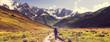Leinwandbild Motiv Hike in mountains