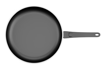 top view of fryer pan isolated on white background
