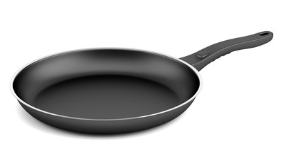 fryer pan isolated on white background