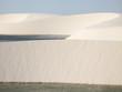 Dunes and lake landscape in Lencois Maranhenses. Brazil