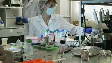 Woman working in modern laboratory