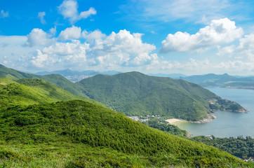 Hong Kong trail beautiful views and nature, Dragon's back