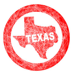 Texas Map Stamp