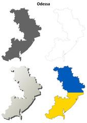 Odessa blank outline map set