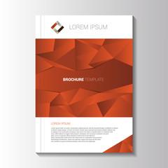 Vector design orange flyer.Brochure template