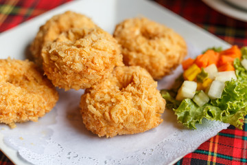 Thai food fried shrimp cake