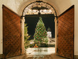 Leinwandbild Motiv Weihnachtsmarkt Salzburg