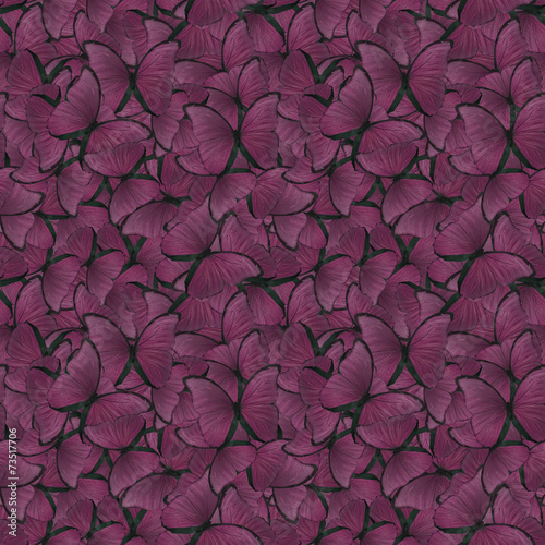 Deurstickers Vlinder seamless background from purple morpho