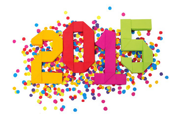 New year 2015 confetti