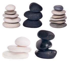 set of stones isolated on white