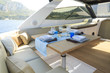 lunch on motor yacht, Table setting at a luxury yacht. - 73518392