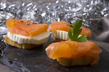 delicious salmon canapes