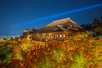 The famed stage at Kiyomizu Dera during the annual fall light sh