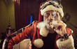 Bad Santa smoking a cigar