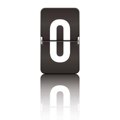 Departure board letter black - o
