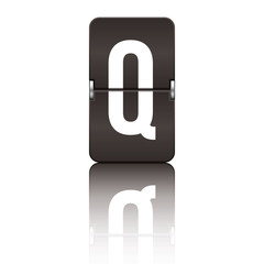 Departure board letter black - q