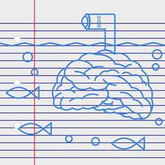Submarine brain.