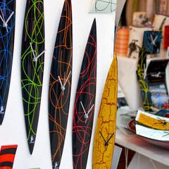 fashionable modern handmade glass clocks