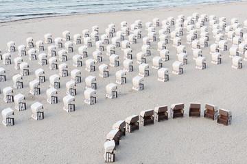 Strandkörbe in Sellin auf Rügen