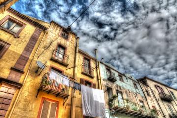 old buildings in hdr