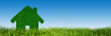 Green, ecological house, real estate concept