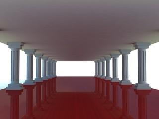 Column tunnel, 3d render
