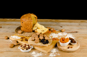 Panettone and ingredients