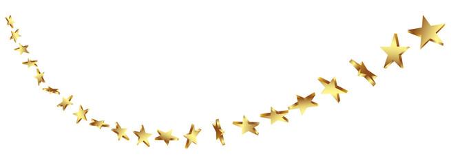 Abstrakte Sternschnuppe, Goldsterne, Gold, Sterne, 3D, Star
