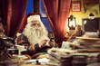 Santa Claus using smartphone