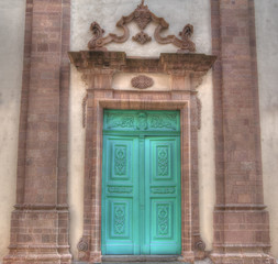 church entrance in hdr