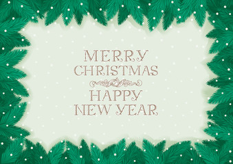 Merry Christmas & Happy New Year! Vector background