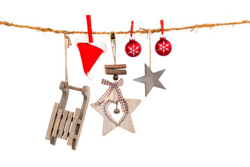 Christmas decoration isolated over white background