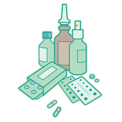 Medicine - drug, pharmacy, cure, pills, antibiotic