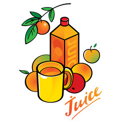 Fresh juice - pack and cup, fruits and vegetables