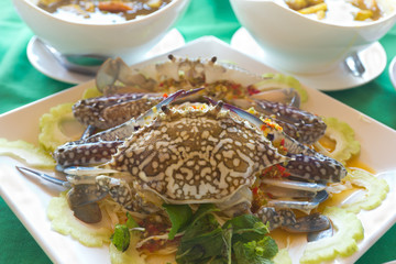 fresh crab on dish