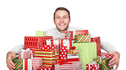 Young man with gifts