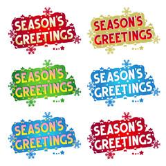 Holiday greetings - Season's Greetings! - 6 variants