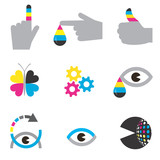 Print industry icons concepts