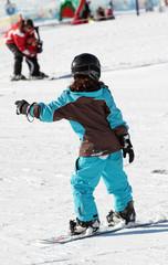 Snowboardschülerin