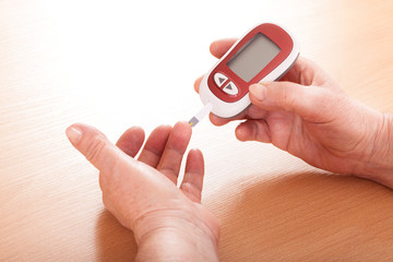 Testing for high blood sugar.