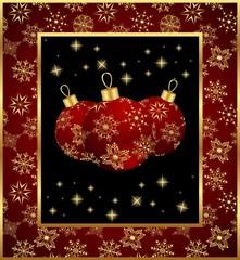 set Christmas balls