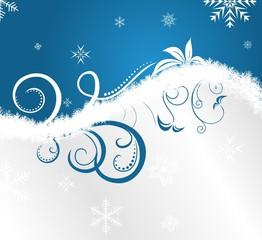 floral Christmas frame