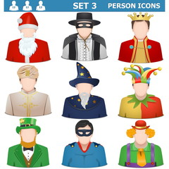 Vector Person Icons Set 3