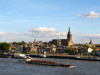 The Waalkade in Nijmegen, the Netherlands