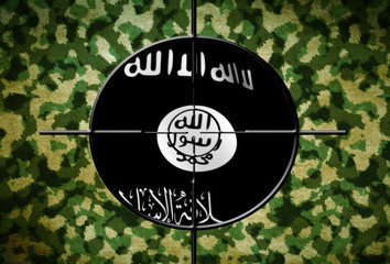 ISIS flag on target