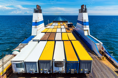canvas print picture Cargo ferry