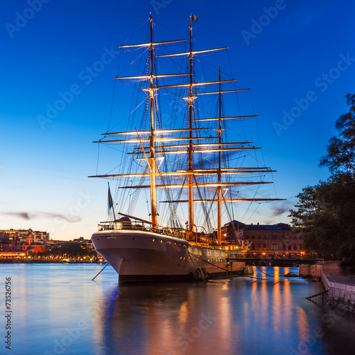 Zdjęcia Evening scenery of Stockholm, Sweden