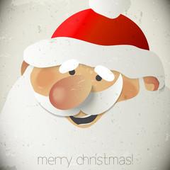 Santa Claus Vector Greeting Card