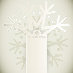 New Year snowflakes Vector greeting card