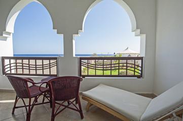 Balcony in luxury tropical resort